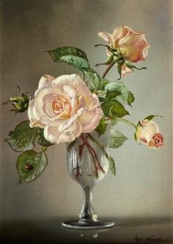 Розы (Pink roses)_35.5 х 25.5_х.,м._Частное собрание